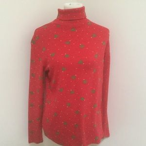 Red turtleneck with Christmas tree SZ L